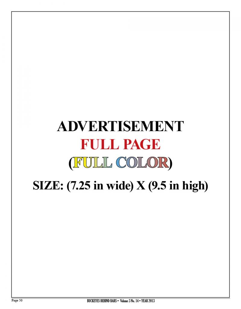 FULL PAGE AD - FULL COLOR